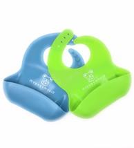 Mybabymykid Waterproof Silicone Bibs Comfortable Soft Baby Bibs (2 sets) - $12.75