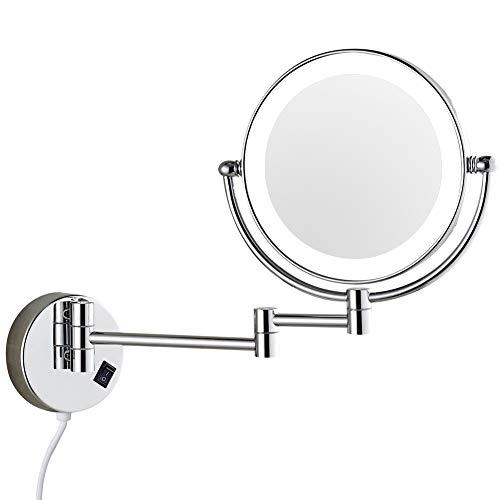 Dowry Wall Mounted Led Lighted Vanity Makeup Mirror With