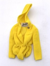 Vintage 1970 Barbie - Swimsuit Cover Up Scuba Do's #1788 - Bright Yellow Hoodie - $9.90