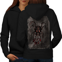 Spider Bite Beast Animal Sweatshirt Hoody Creep Bug Women Hoodie Back - $21.99+