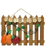 Celebrate Fall Together Thanksgiving Fence Wall Decor  Rustic with Metal... - $27.94