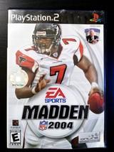 Madden NFL 2004 (Sony PlayStation 2, 2003) PS2 - $3.98
