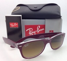 RAY-BAN Sunglasses RB 2132 6054/85 52-18 NEW WAYFARER Burgundy-Clear/Bro... - $199.95
