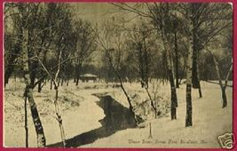 St Louis Missouri Forest Pk Winter Trees Stream 1909 Mo - $7.50
