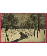 ST LOUIS MISSOURI Forest Pk Winter Trees Stream 1909 MO - $7.50