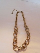 Alfani antiqued gold tone link chain necklace  #372 - $14.90