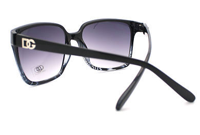 Vintage Fashion Sunglasses Womens 2-Tone Print Square Frame BLACK