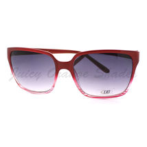 Vintage Fashion Sunglasses Womens 2-Tone Print Square Frame RED - $7.87