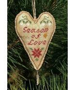 Season of Love Primitive Heart cross stitch chart Stitchers Anon Design - $6.00