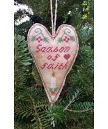 Season of Faith Primitive Heart cross stitch chart Stitchers Anon Design - $6.00