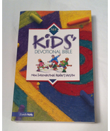 Zondervan Zonderkids Kids' Devotional Bible NIV soft cover (name written... - $3.00