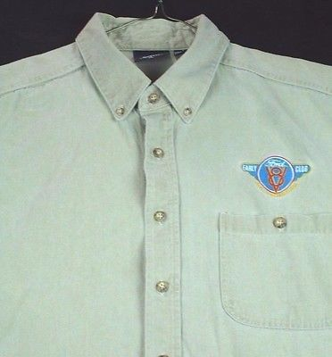 Primary image for Early Ford V8 Club of America Men's Khaki Short Sleeve Shirt XL EUC