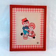 """Vintage Print """"Rag Dolls"""" by Lyn 8 1/2 x 10 1/2 Framed - $8.00"""