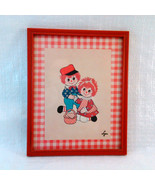 "Vintage Print ""Rag Dolls"" by Lyn 8 1/2 x 10 1/2 Framed - $8.00"