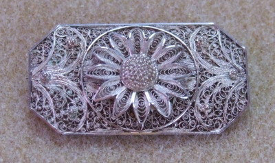 Beautiful Edwardian Filigree Brooch