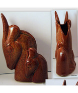Brown Shawnee Gazelle Head Planter 840 Rare - $55.00