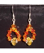 Sunny Delight Hand Made Citrine Earrings Yellow and Orange - $15.00