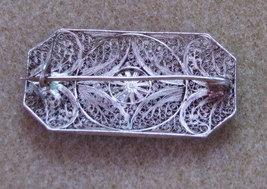Silver Edwardian Filigree Brooch image 3