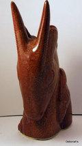 Brown Shawnee Gazelle Head Planter 840 Rare image 3