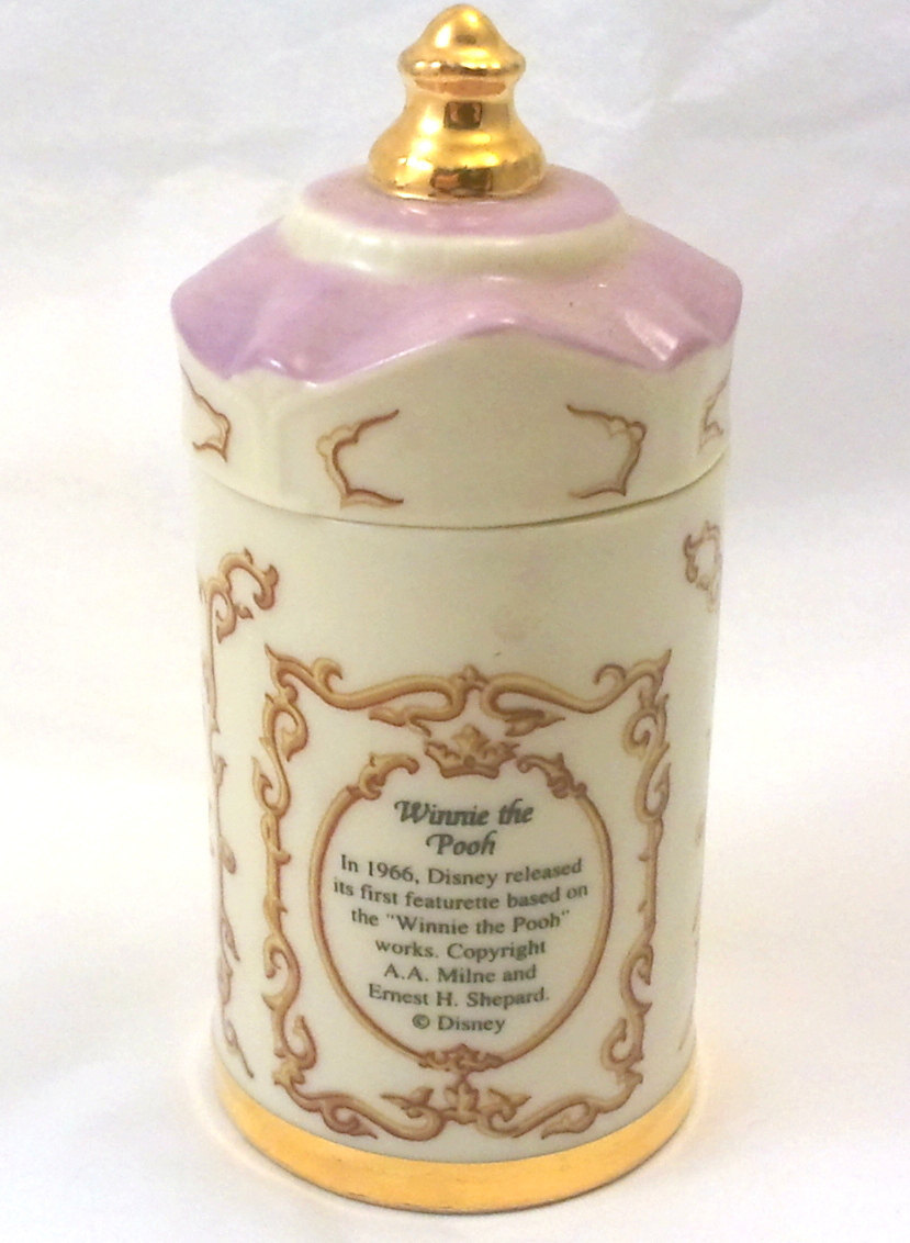 The Winnie the Pooh Walt Disney Spice Jar Collection 1995 Lenox Porcelain