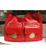 Marc Jacobs - Lisa Hobo - Stunning Red Leather Bag w/Gold HW - $335.00