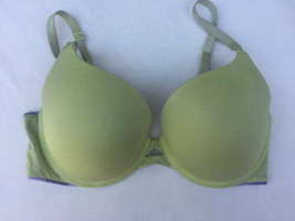 Victorias Secret Sz 34DD Padded Perfect Coverage Green Bra - $25.74