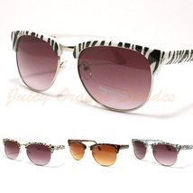 WOMEN'S HALF HORN RIMMED Sunglasses RETRO TRENDY Desginer Fashion NEW - $9.95