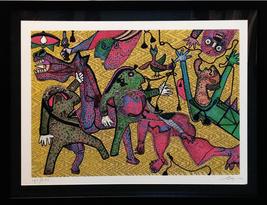 """Enrico Baj """"Guernica Detail"""" 1975 - Hand Signed - Framed - See Live at G... - $2,200.00"""