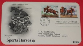 First Day Cover- Sports Horses- Steeplechase & Thoroughbred Racing - $8.00