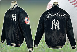 JH Design MLB New York Yankees Satin Jacket  - $76.95