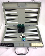 Backgammon Set Hard Carrying Case Cardinal Ind All Pieces No Instructions - $18.99