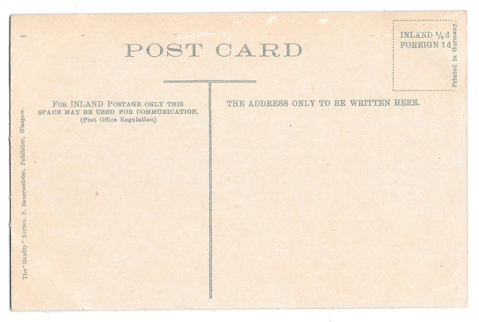 Scotland Glasgow University F Bauermeister Quality Series Vintage Postcard UK