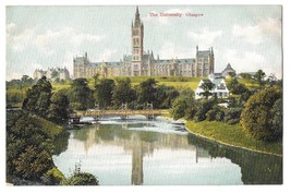 Scotland Glasgow University F Bauermeister Quality Series Vintage Postca... - $4.99