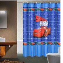 CARs CARTOON McQUEEN Design 180 x 180 cm POLYESTER Bathroom Use SHOWER C... - $26.99