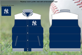 JH New York Yankees Reversible Puffer Vest Jacket - $74.95