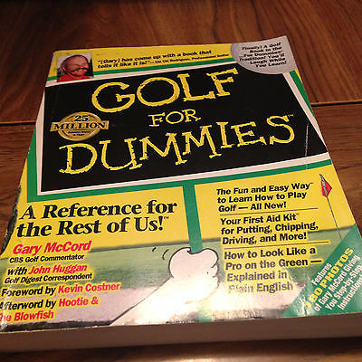 Primary image for Idg Mccord/Huggan - Golf For Dummies (1996) - Used - Trade Paper (Paperback