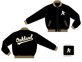 JH Design Oakland Athletics All Wool Reversible Jacket  - $109.95