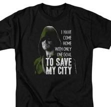 Arrow T-shirt Save My City DC comics TV show super hero graphic Tee ARW120 image 1