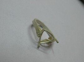 925 sterling Silver mount Ring,Trillion 10.0 mm, RI-0139,ring,all size a... - $8.00
