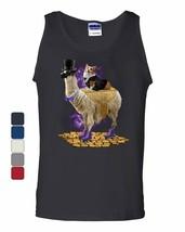 Corgi Riding a Gentleman Llama Tank Top Funny Weird Universe Dog Sleeveless - $9.23+