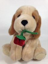 Russ Puppy Dog Plush w/ Red Rose Flower Tan Brown Soft Stuffed Animal 10... - $29.99