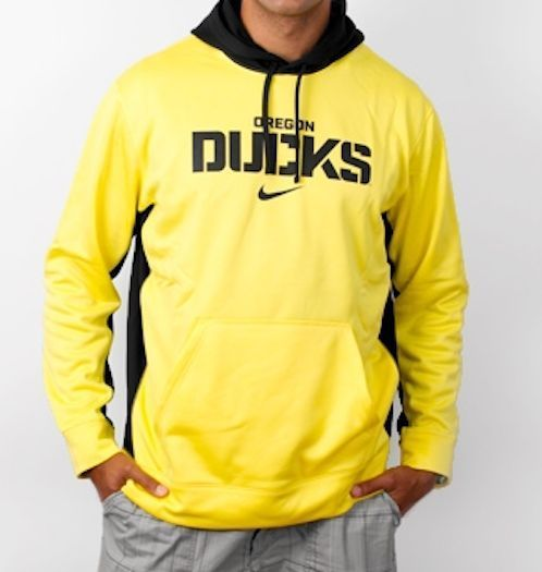"Nike Oregon Ducks KO Therma-FIT Yellow Hoodie *Free Shipping in USA* ""Large"""