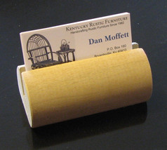 Wooden Dowel Business Card Holder - $12.00