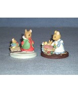 "Avon Forest Friends 2 Figurines ""All Tucked In"" and ""Sleigh Ride"" - $5.99"
