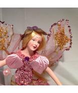 "American Silkflower Collection, Rose Angel - Pink-Purple dress, 8"" height - $34.99"