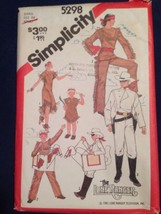 Vtg 1981 Simplicity Sewing Pattern 5298 Lone Ranger Tonto Silver Small Uncut - $9.99