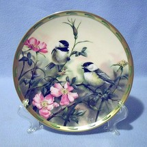 Lenox Rose Morning Black Capped Chickadees Collector Plate 1992 Nature's... - $24.99