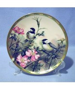 Lenox Rose Morning Black Capped Chickadees Collector Plate 1992 Nature's... - $19.99