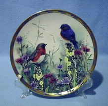 Lenox Summer Interlude Bluebirds Collector Plate 1992 Nature's Collage - $19.99