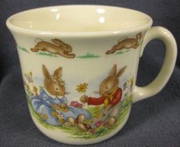 Royal Doulton Bunnykins Hug A Mug DAISY CHAINS 1 Handled Bone China Engl... - $19.95